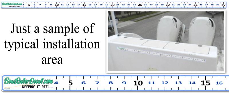 Custom Boat Ruler Vinyl Decal Fish Measure Tape Fishing Decal - Custom vinyl decal stickers for boats